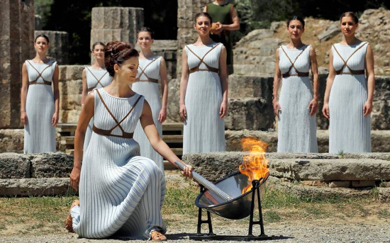 24.10.2017 Greece Olympic flame lighting for Pyeongchang 2018 at Ancient Olympia  sc 1 st  Ina TV & 24.10.2017 Greece: Olympic flame lighting for Pyeongchang 2018 at ... azcodes.com