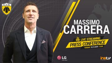 Live Streaming Press Conference of the new head coach Massimo Carrera of AEK FC